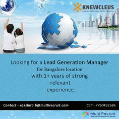 Knewcleus is hunting for the one with:  • Strong sales skill set • Ability to build relationships • Customer centric orientation • Hunger to succeed • Strategic thinking • Strong Planning ability & organisational abilities  If your possess all the above, then get in touch with Multi Recruit.
