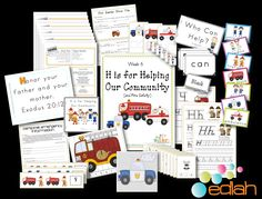 This looks like a fun preschool theme. It has complete lesson plans for a week, easy reader books, games, word wall cards, the works. I love that it also has a matching newsletter for parents and even a field trip permission slip! Great for October/Fire Safety Month!