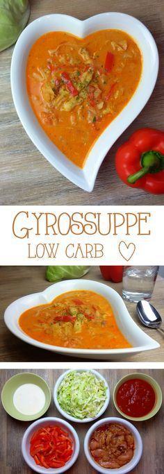 Gyrossuppe low carb Diese leckere Suppe eignet sich auch prima als Partysuppe. Das Rezept ist für 4 Personen und die Suppe ist schon fast ein reichhaltiger Eintopf. Für eine größere Menge könnt ihr sie ruhig mit etwas mehr Wasser und Gewürzen strecken. Manchmallasse ich zum Schluss noch etwas geriebenen Käsein der Suppe schmelzen.... #lowcarb #abnehmen #lchf #Gesundheit #kochen #Rezept #deutsch #Foodblog #Food