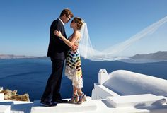 Colourful Santorini Wedding with Epic Views