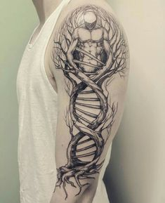 DNA tree designed by Lotta Randén at Bläckbyrån (Vårgårda, Sweden) : tattoos Dna Tattoo, Samoan Tattoo, Tattoo Drawings, Body Art Tattoos, New Tattoos, Sleeve Tattoos, Tattoos For Guys, Cool Tattoos, Unique Tattoos