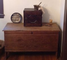 Small linen fold chest--the maker went wild and used his planes on the sides and back.