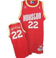 Clyde Drexler Road Jersey, Adidas Houston Rockets #22 Hardwood Classics Swingman Red Jersey  ID:564  $20