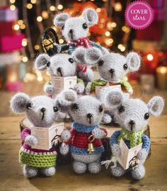 Crochet some little mice carol singers for this Christmas holiday! More Great Looks Like This