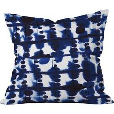 Deny Designs Parallel Throw Pillow Parallel Throw Pillow: Woven polyester throw pillow Artwork printed on both sides Designed by Jacqueline Maldonado Zipper closure Material: Polyester Care: Spot clean Brand: Deny Designs Origin: United States Pattern Mixing, Joss And Main, Signature Style, Midnight Blue, Artwork Prints, Ikat, Indigo, Throw Pillows, Poufs