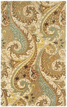 """Paisley Rug in Moonstone from @wmbgbrand embraces """"trend meets tradition.""""  #CapelRugs"""