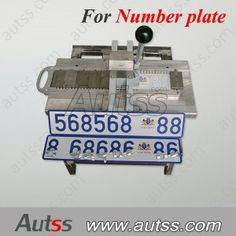 Manual press machine for hand make license plate, number plate, compact brother