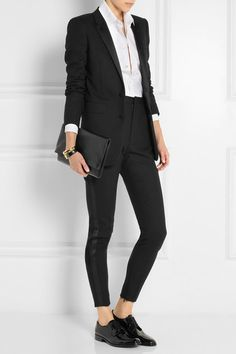 Saint Laurent Université patent-leather brogues £530 ...or my ASOS look-a-likes.