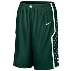 Nike College Twill Shorts - Men's - Basketball - Fan Gear - Michigan State - Green