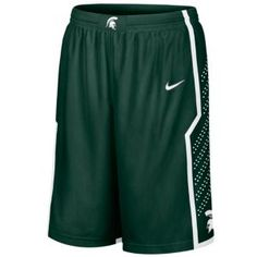Nike College Twill Shorts - Men's - Basketball - Fan Gear - Michigan State - Green