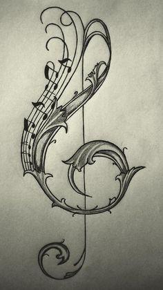 violin key drawing/sketch