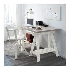 "LINNMON / FINNVARD Table - gray/white, 59x29 1/2 "" - IKEA"