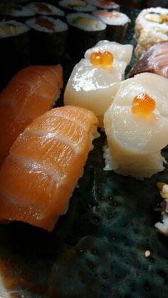 #sake nigiri #hotate gai nigiri #millhouse sushi prague