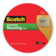 Scotch Mounting Tape 110-Mr, 3/4-Inch X 38 Yards, 2015 Amazon Top Rated Foam Tape #OfficeProduct