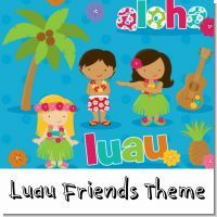 This is more for a kid's luau birthday party or a pool party for a child. It works great for a boy or a girl's party.