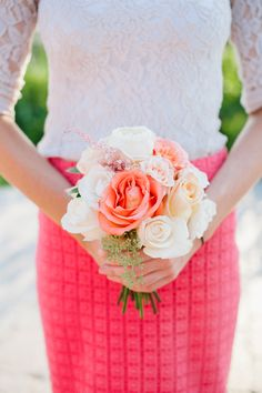 Coral bouquet. Floral Design by Erin | J. Taylor Photography