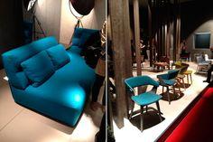 trend of blue furniture.