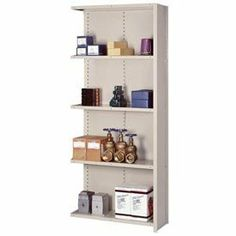 """Closed Shelving Add-On, 5 Heavy-Duty Shelves, 36""""Wx12""""Dx84""""H Putty by LYON WORKSPACE PRODUCTS. $171.95. Lyon Closed Shelving Add-On, 5 Heavy-Duty Shelves, 36""""Wx12""""Dx84""""H Putty Sturdy construction and easy installation make offset angle shelving ideal for applications calling for stand-alone sectionsThirteen-gauge uprights, with medium gauge on 36"""" Box W shelves and heavy gauge on 48"""" Box W shelves, deliver capacities up to 600 lbs per shelfOpen sections are great f..."""