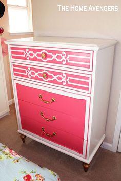 Pink Painted Dresser