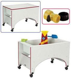 2857JC00 Rainbow Accents¨ Space Saver Sensory Table