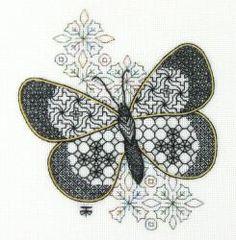 Blackwork Embroidery Kits - Blackwork Embroidery, Hand Embroidery Kits, Blackwork, Stitching, Hand Embroidery Designs as an Alternative to Cross-stitch.