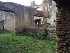 In een van de grote gebouwen van Ostia