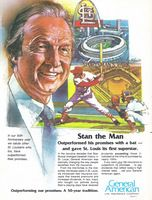 General American Insurance Stan Musial 1983 Ad Picture