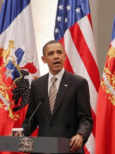 U.S. President Barack Obama speaks during a joint press availability with Chile's President Sebastian Pinera, in Santiago, Chile on March 21, 2011