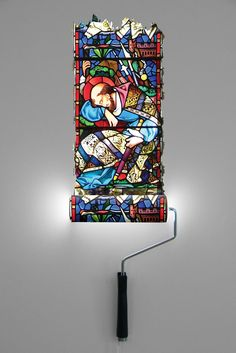 """""""Paint roller wall lamp that I made for """"Art in the Church"""" exhibition"""" : Natalie-Sampson-Designs"""