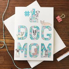Dog Mothers Day, Mothers Day Cards, Birthday Cards For Mother, Mom Cards, Mom Day, Christmas Tree Tops, Pet Boutique, Blank Cards, Dog Mom