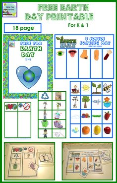 free earth day printable that may only be posted on Wise Owl Factory sites Earth Day Activities, Sorting Activities, Activities For Kids, Speech Activities, School Themes, Classroom Themes, School Ideas, Earth Day Information, Creative Curriculum