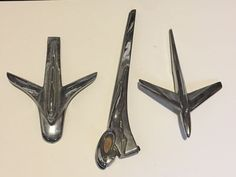 VINTAGE HOOD ORNAMENTS MIXED LOT DODGE TRUCK PLYMOUTH RAM TOUGH AIRPLANE PLANE