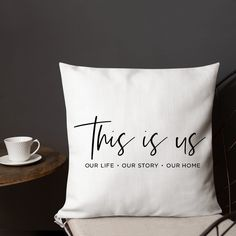 This is us Throw Pillow 50th Anniversary Decorations, Family Wall, Wedding Pillows, Neighbor Gifts, Silhouette Cameo Projects, Wall Photos, Vinyl Projects, Cricut Ideas, Cricket