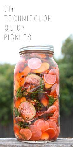 DIY Technicolor Quick Pickles | Gluten-free & Vegan | The Plant Strong Vegan