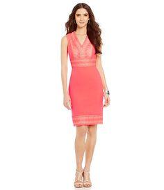 Antonio Melani Calista Crepe/Organza Sheath Dress