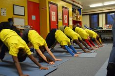 Children participate in a yoga session at Prospect Family Shelter.