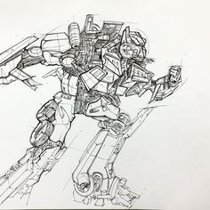 Optimus prime rough sketch  Only plus-pen to use