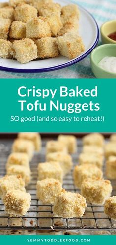 Serve up crispy baked Tofu Nuggets for a healthy and delish family dinner loaded with protein, iron, and calcium...and a crunchy coating kids will love! Plus, they're easy to reheat and pair well with any of your kid's favorite dips.