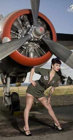 Image result for girls whit airplanes