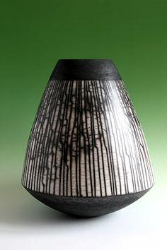 Ceramics by Ashraf Hanna at Studiopottery.co.uk - 2009. Large angular vessel. Height: 55cm.