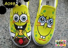 hand-painted shoes graffiti shoes canvas shoes female SpongeBobSquarePants $1201,63