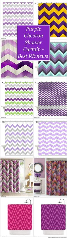 Purple Chevron Shower Curtain on Pinterest | Purple chevron, Shower ...
