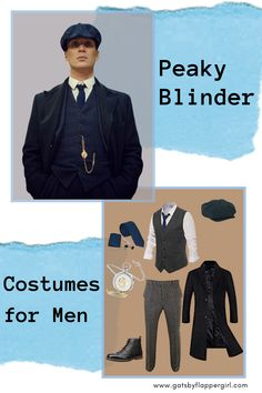 Looking for the best Men's Peaky Blinders Costume for your next event or Halloween - Click here to see all our great outfits - Look like Thomas Shelby with style & swagger!