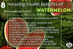 Amazing Health Benefits of Watermelon. && Best Superfoods of July (Link) #losingweightforall