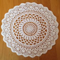 Ravelry: Angel's Garden Doily by Chinami Horiba... Free pattern:  https://www.ravelry.com/patterns/library/angels-garden-doily