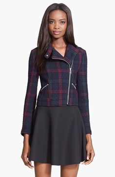 Free shipping and returns on Elizabeth and James 'Patti' Plaid Quilted Moto Jacket at Nordstrom.com. Ethereal hues wash a quilted jacket in subdued plaid checks. Silvertone hardware and a short, fitted cut keep the look in moto-inspired territory.