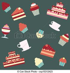 Dessert Clip Art Free | ... Clipart, Illustration, Drawings, and EPS Clip Art Graphics Images