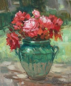Perfect Compliments oil painting Mary Maxam