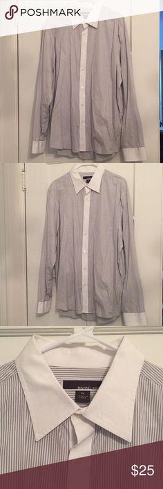 Men's Michael Kors Pinstripe Shirt, XL Excellent condition, only worn once. Tailored fit. KORS Michael Kors Shirts Dress Shirts