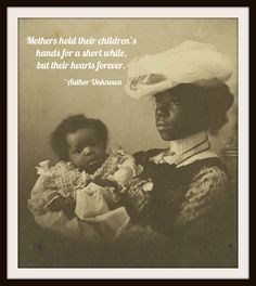 "Vintage Mother's Day Art Print ""Mothers Hold Their Children's Hearts"" 8.5 x 11"""